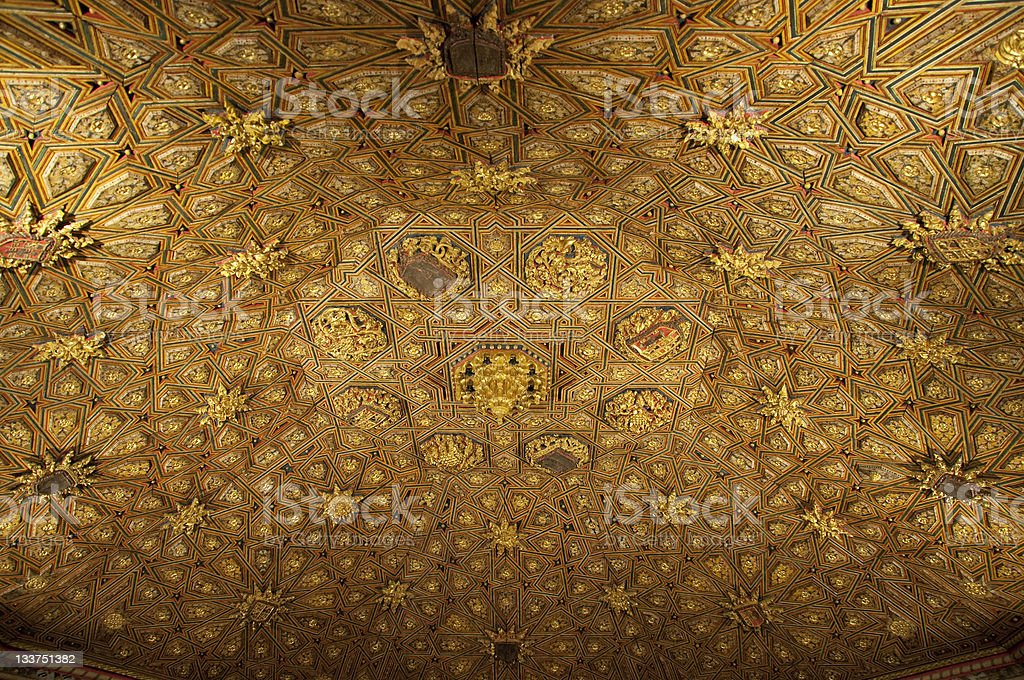 Mudejar offered ceiling stock photo