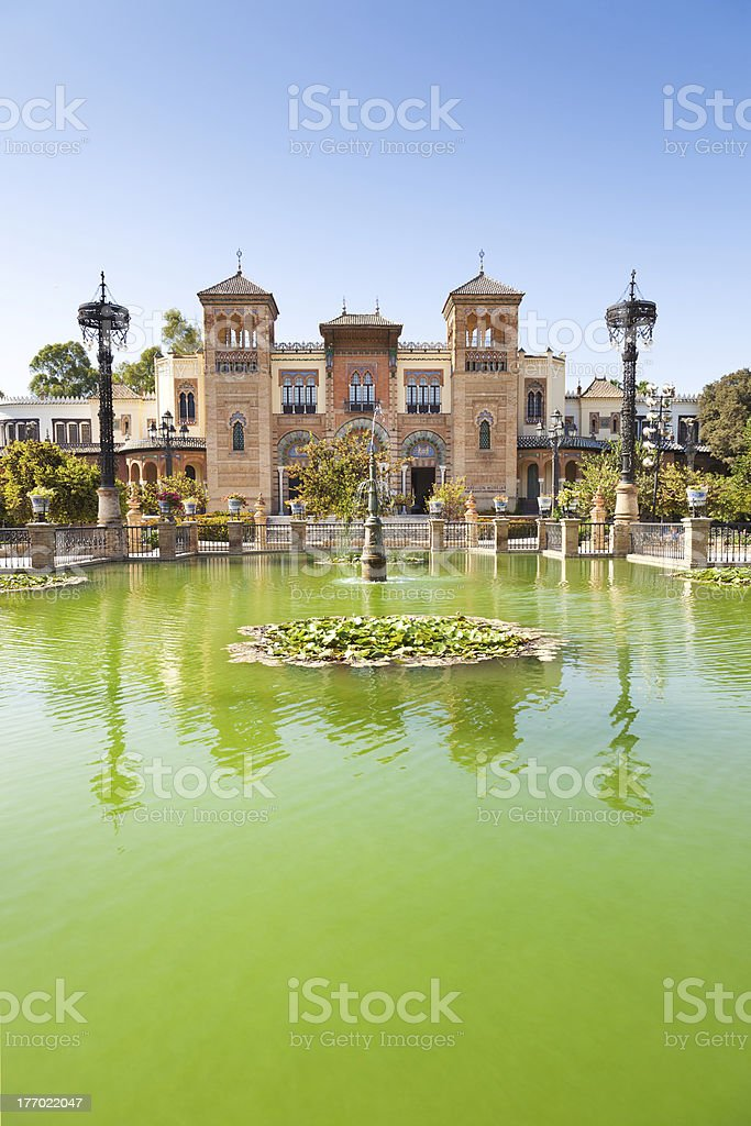 Mudejar Pavilion in Sevilla royalty-free stock photo
