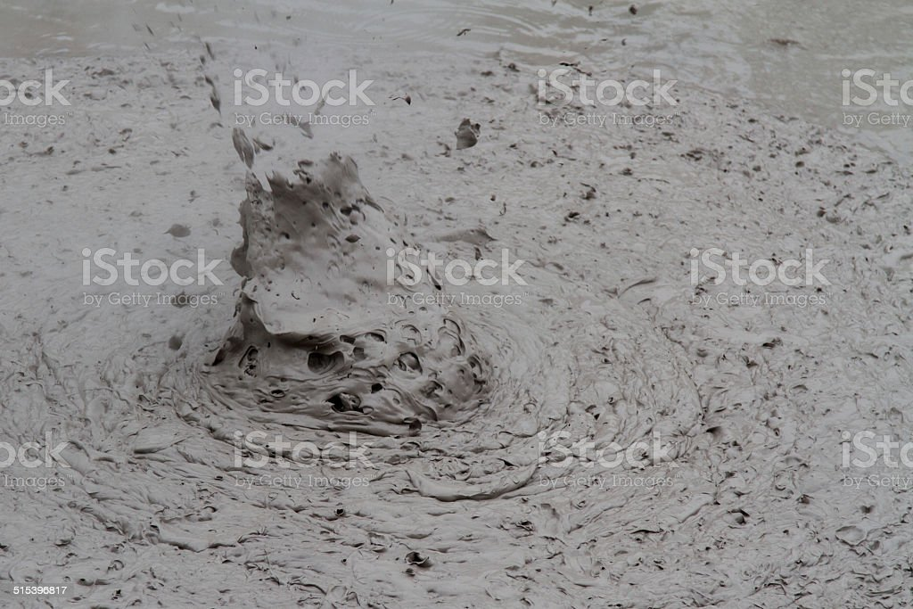 Mudpool Exploding stock photo