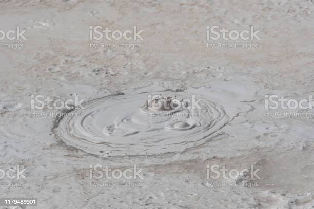 Mudpot Artists Paintpots Yellowstone National Park Stock Photo - Download Image Now