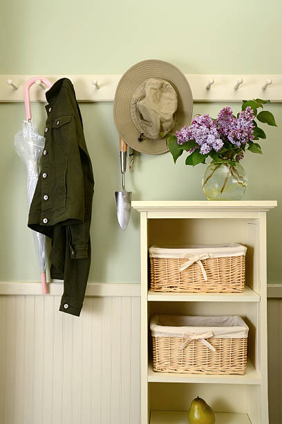 Mudroom in the Warm Weather Months stock photo