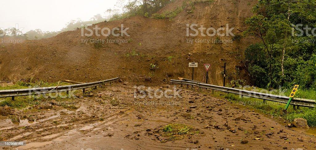 mudslide stock photo