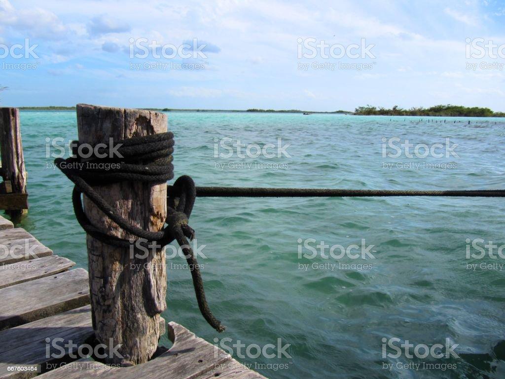 Muelle para embarcaciones stock photo