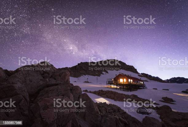 Photo of Mueller Hut and Milky Way