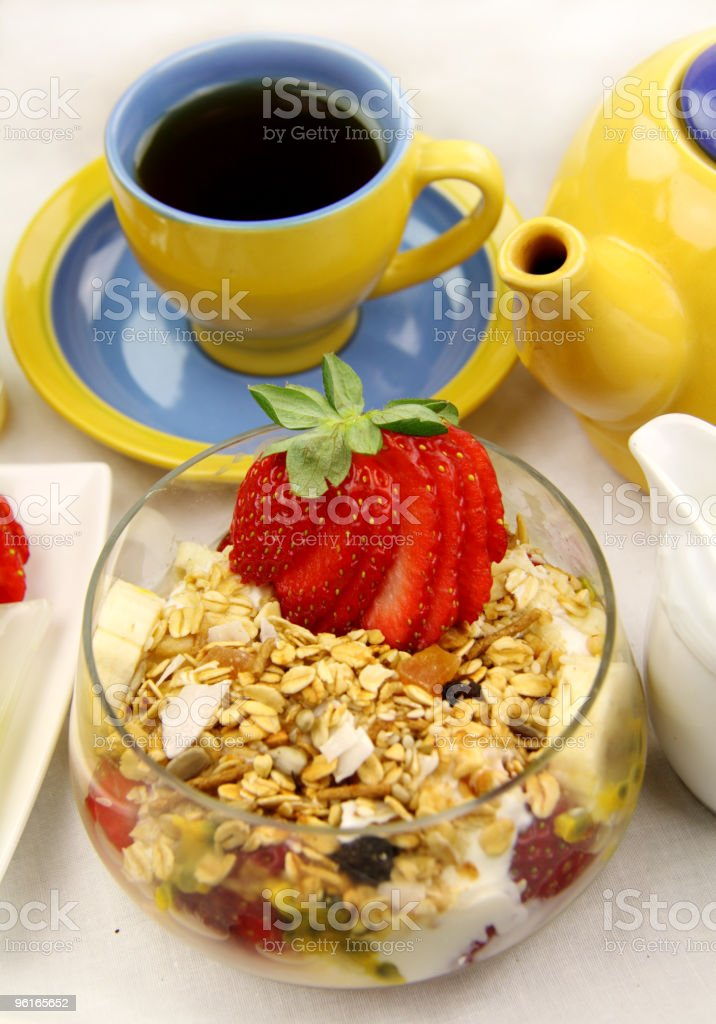 Muesli And Tea royalty-free stock photo