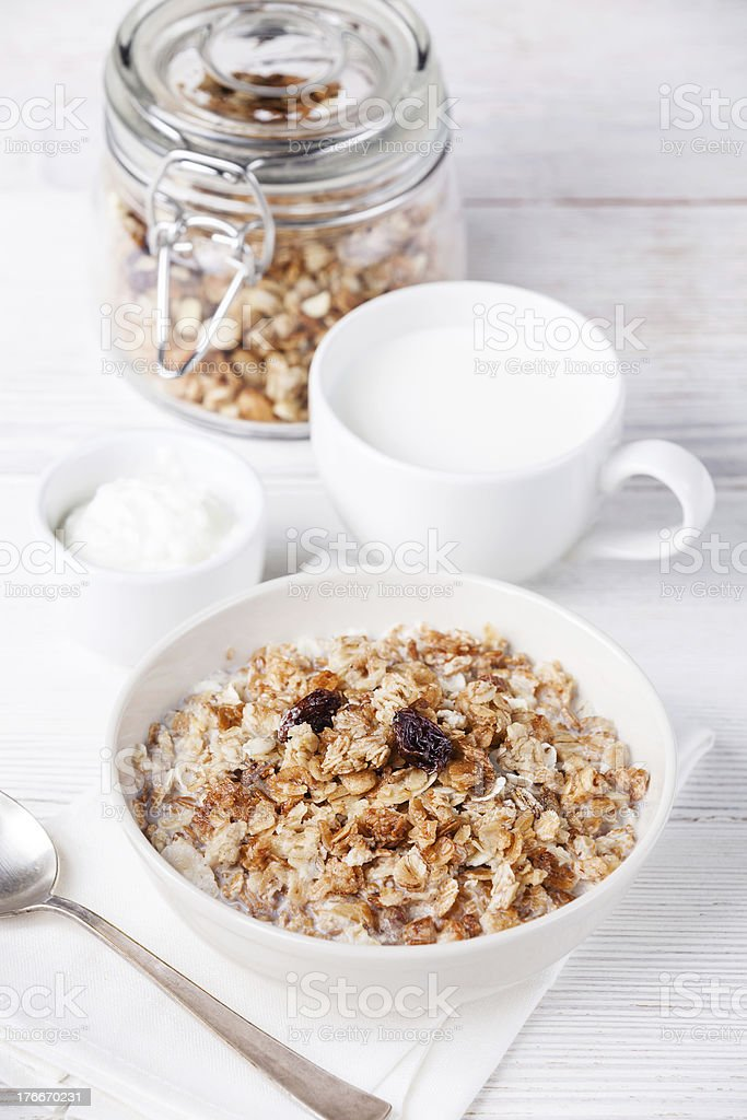 Muesli granola royalty-free stock photo