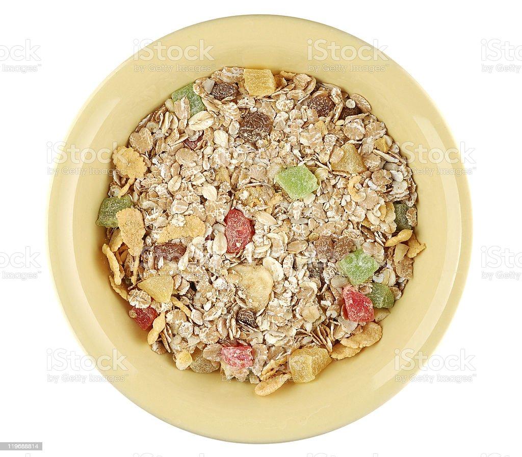 Muesli in bowl royalty-free stock photo