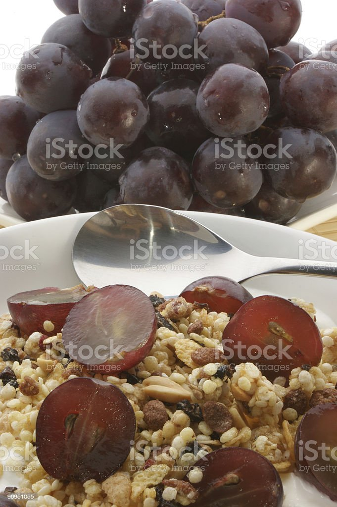 Muesli in the morning keeps you slim and fit royalty-free stock photo