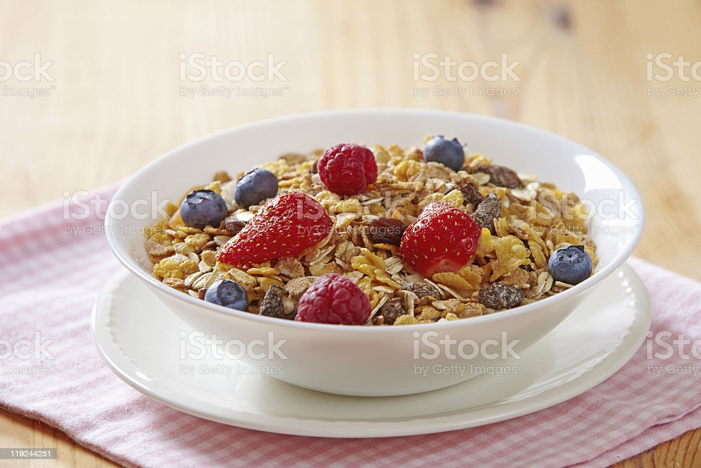muesli with fresh berries royalty-free stock photo