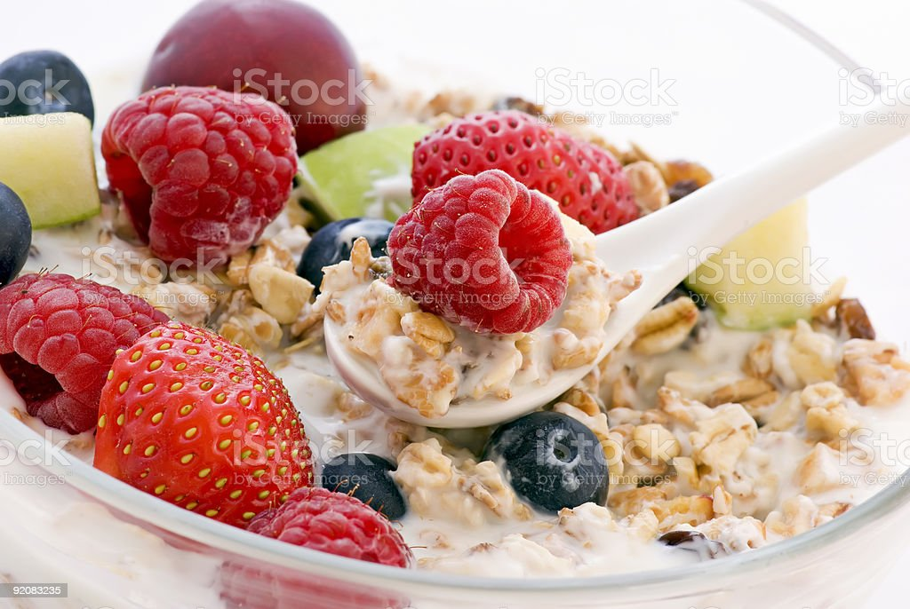 Muesli with fresh Fruits royalty-free stock photo
