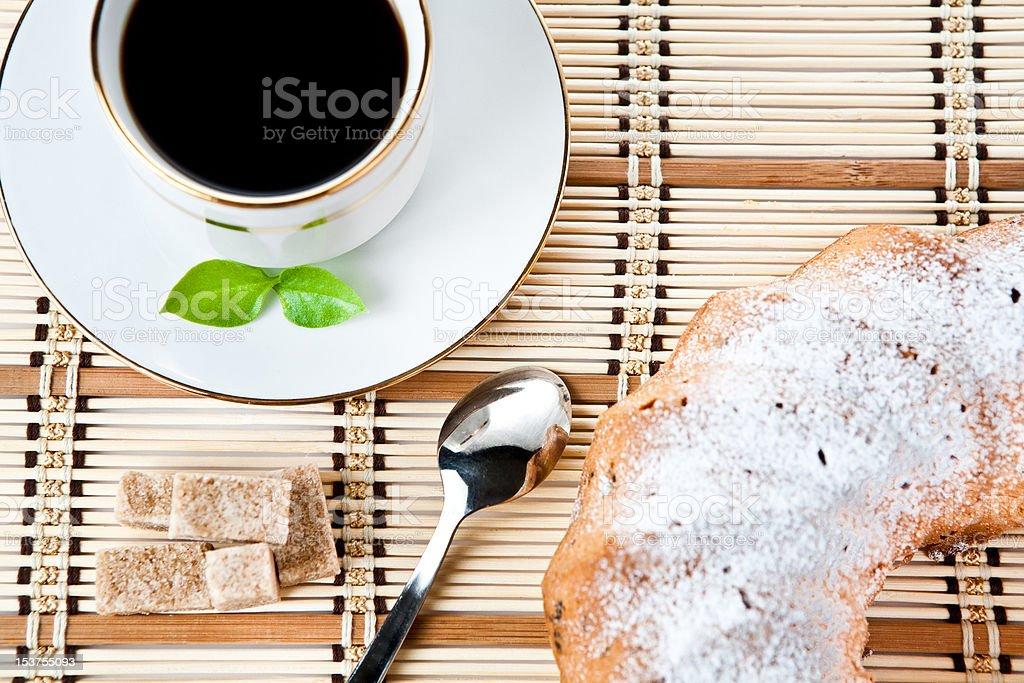 muffin and a mug royalty-free stock photo