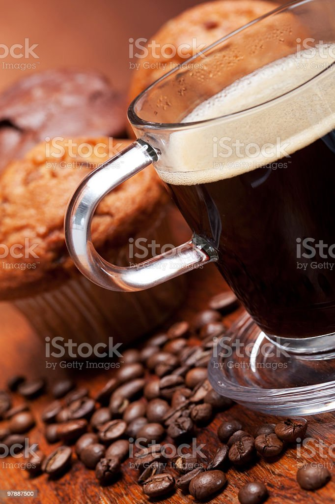 Muffin and coffee royalty-free stock photo