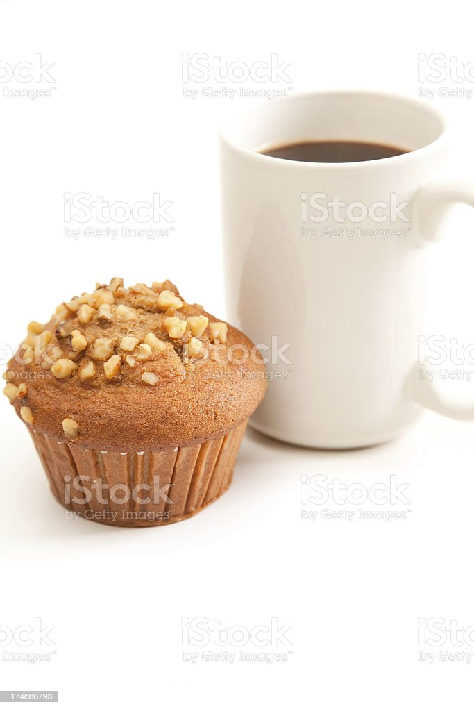 Muffin & Coffee royalty-free stock photo