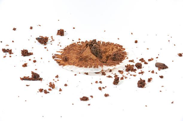 muffin le briciole - briciola foto e immagini stock