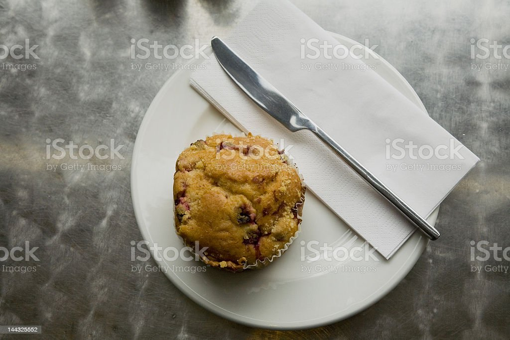Muffin in cafe royalty-free stock photo