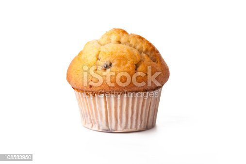 sweet muffin on white background