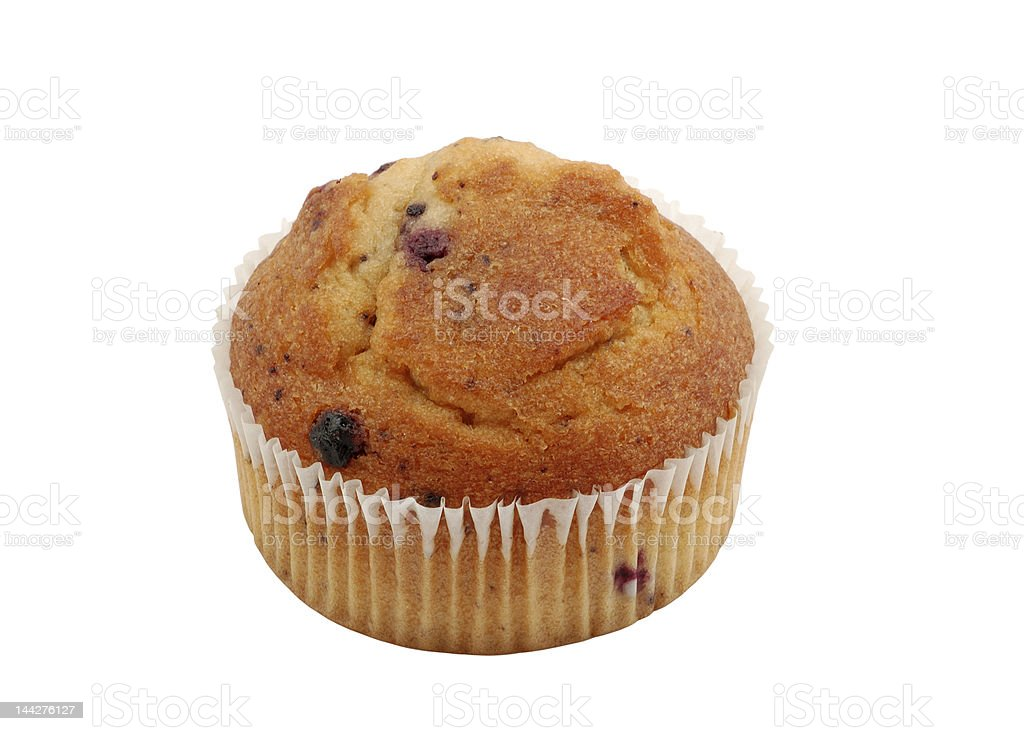 Muffin isolated over white background royalty-free stock photo