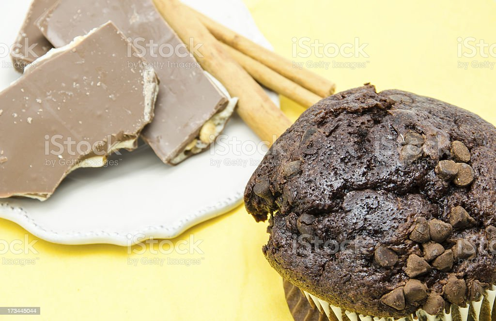 Muffin of chocolate royalty-free stock photo