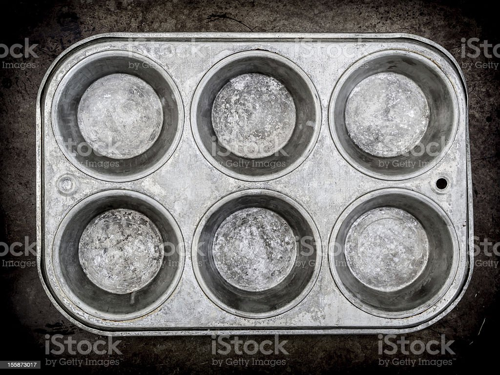 Muffin pan background royalty-free stock photo