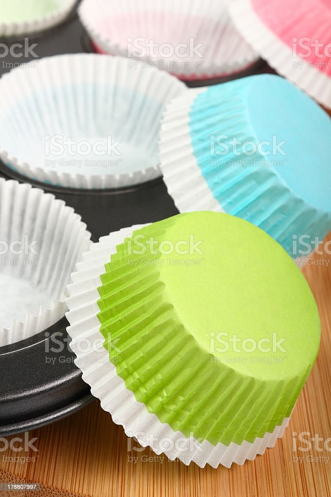 Muffin Tray And Cupcake Liner Stock Photo Download Image