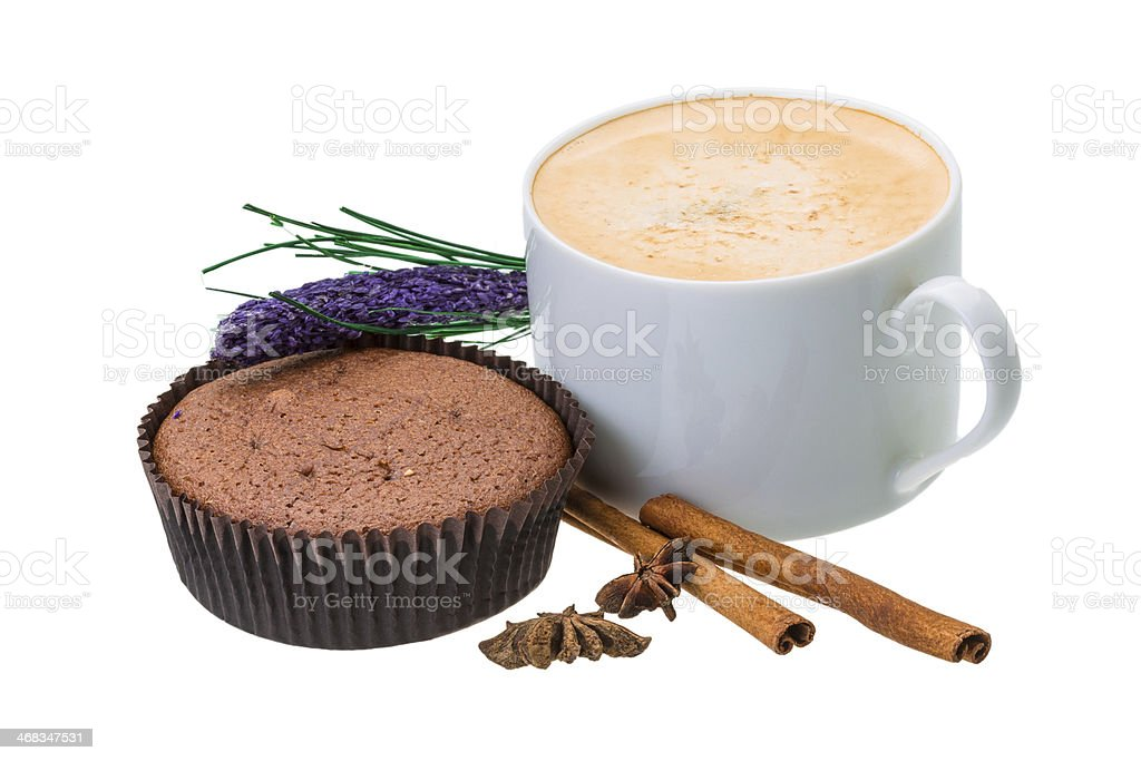 Muffin with coffee royalty-free stock photo