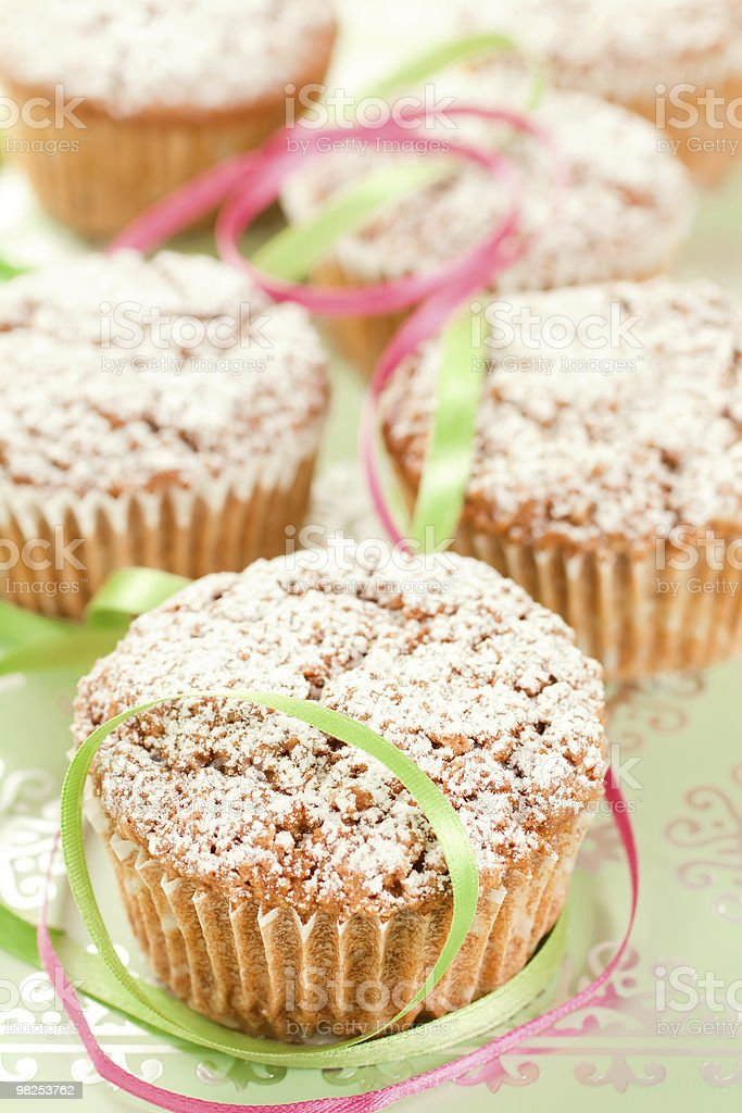 Muffins and Ribbons royalty-free stock photo