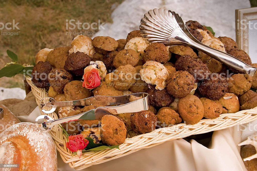Muffins for breakfast royalty-free stock photo