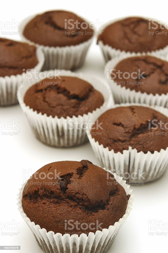 Muffins fresh from the oven stock photo