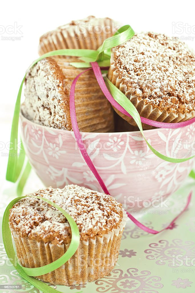 Muffins In Bowl royalty-free stock photo