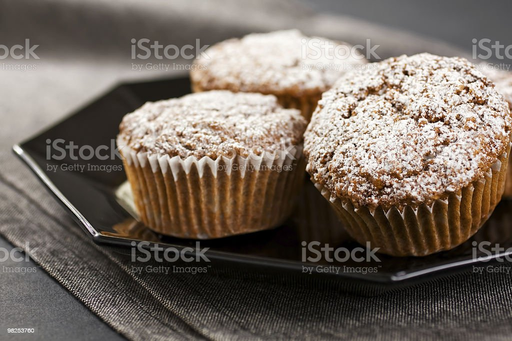 Muffins On Grey royalty-free stock photo