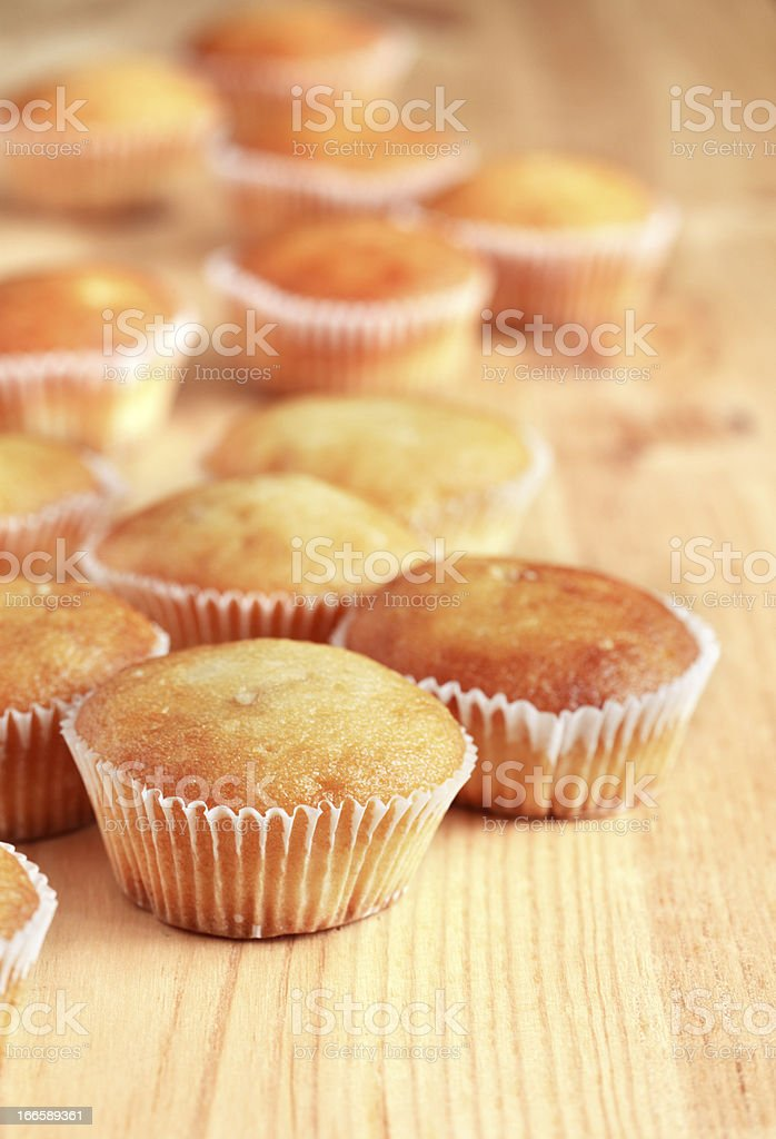 Muffins On Wood royalty-free stock photo