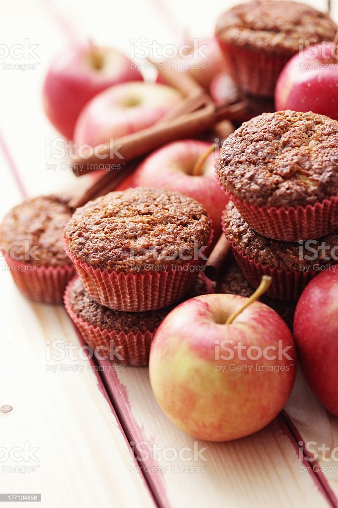 muffins with apple stock photo