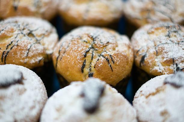 Muffins mit Schokolade und Jam – Foto