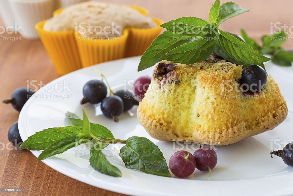 muffins with currants royalty-free stock photo
