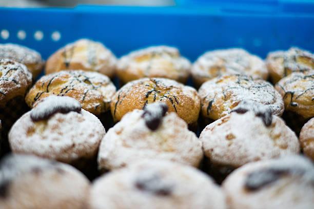 Schoko-Muffins mit Gelee & Zucker – Foto