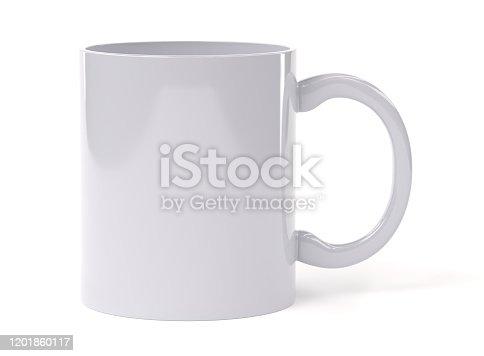 mug, white background, 3d rendering