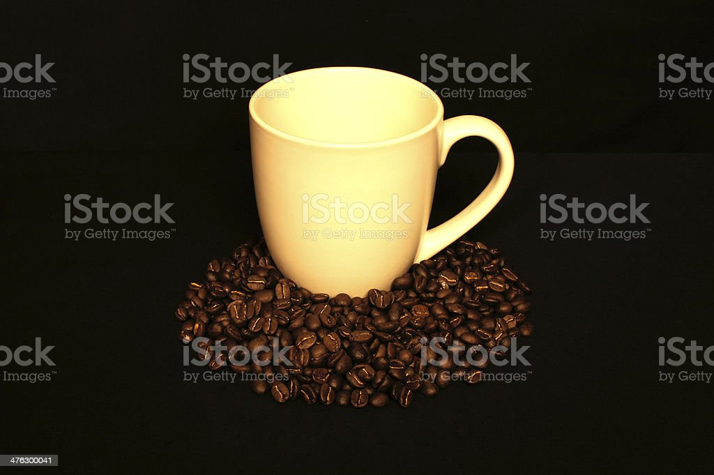 Mug and Coffee Beans royalty-free stock photo