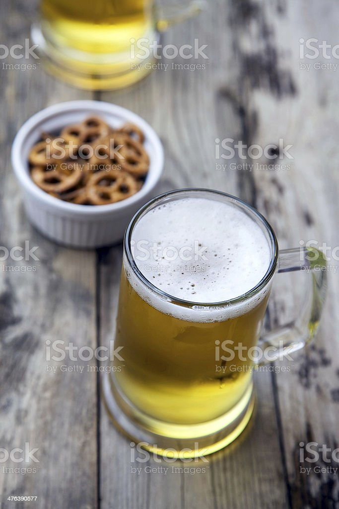 Mug fresh beer royalty-free stock photo