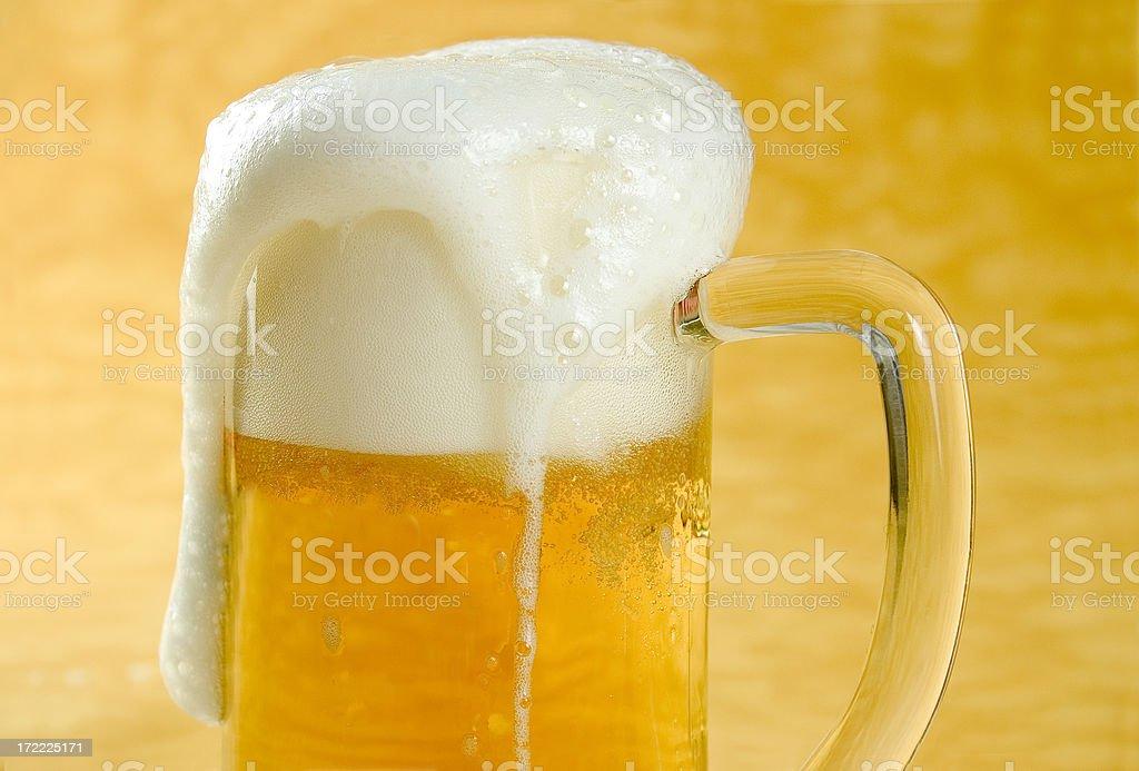 Mug full of Beer stock photo