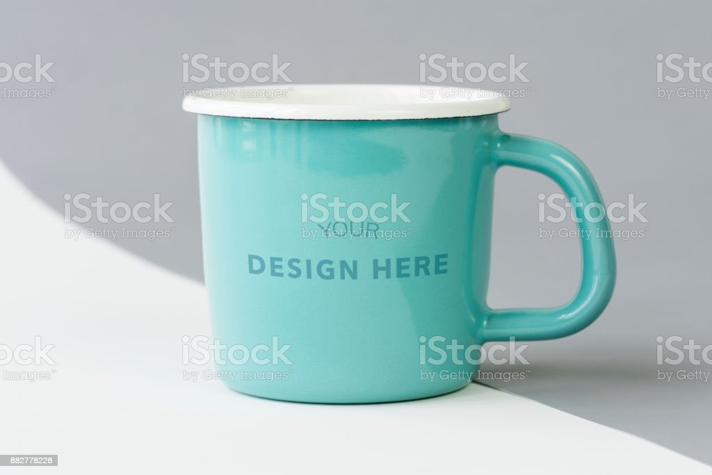 Mug mockup isolated on background stock photo