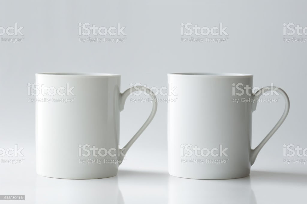 Mug Mockup isolated on light grey background. royalty-free stock photo
