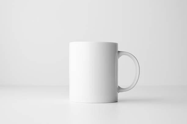 mug mock-up - taza fotografías e imágenes de stock
