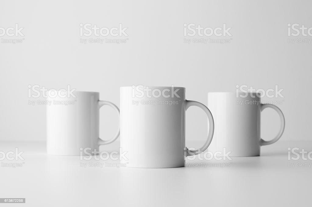 Mug Mock-Up - Three Mugs stock photo