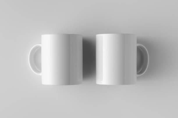 Mug Mock-Up - Two Mugs stock photo