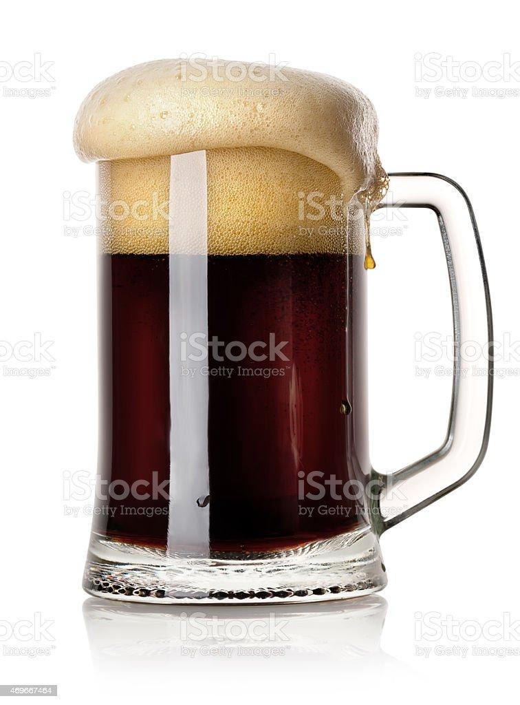 Mug of black beer stock photo