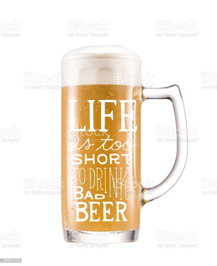 mug of cold beer – zdjęcie