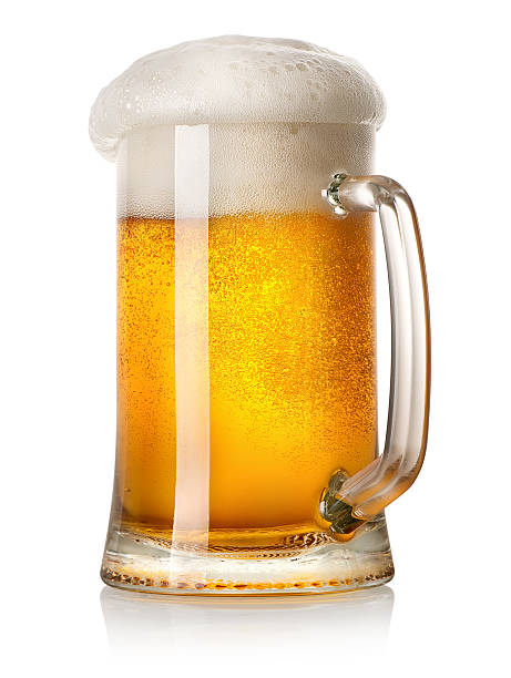 mug of light beer - dark beer stock photos and pictures