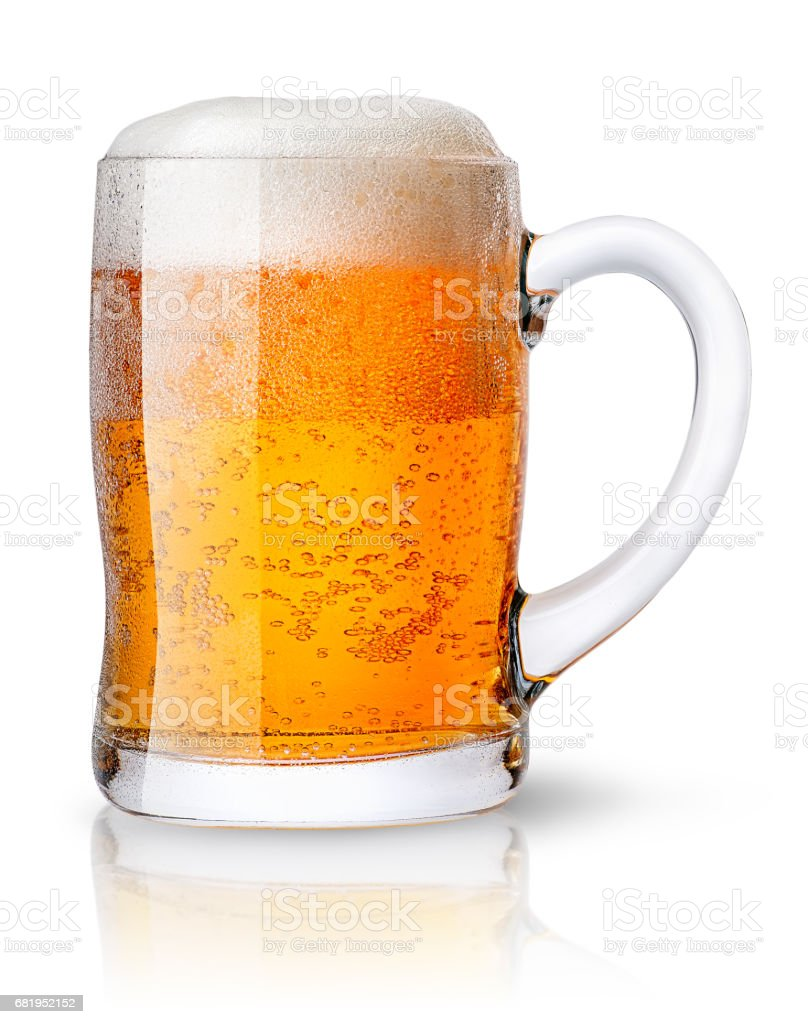 Mug of light beer stock photo