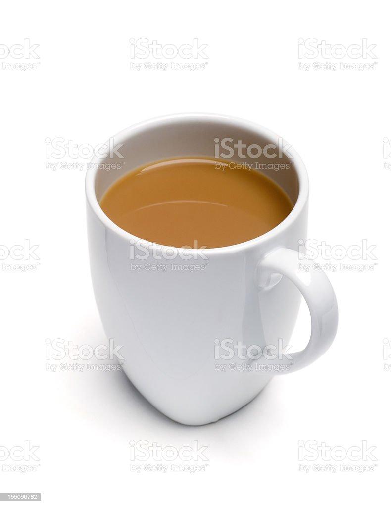 Mug of tea isolated on white stock photo
