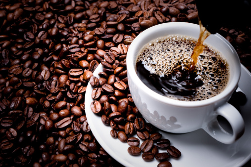 Fresh cup of coffee.